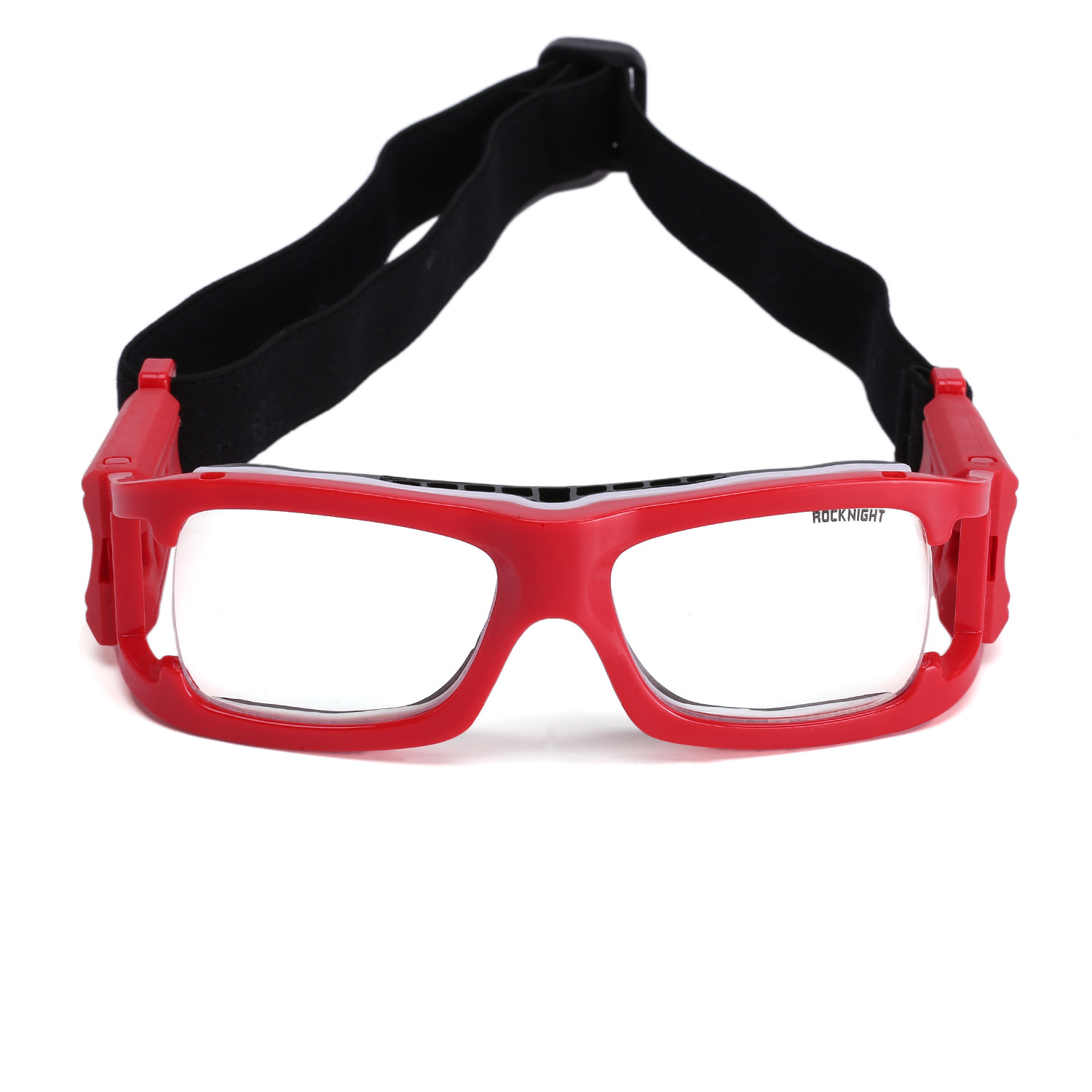 e6d622adcc ROCKNIGHT Sports Goggles Protective Safety Basketball Glasses for Adults  with Adjustable Strap for Basketball Football Volleyball Hockey Rugby (Red)  ...