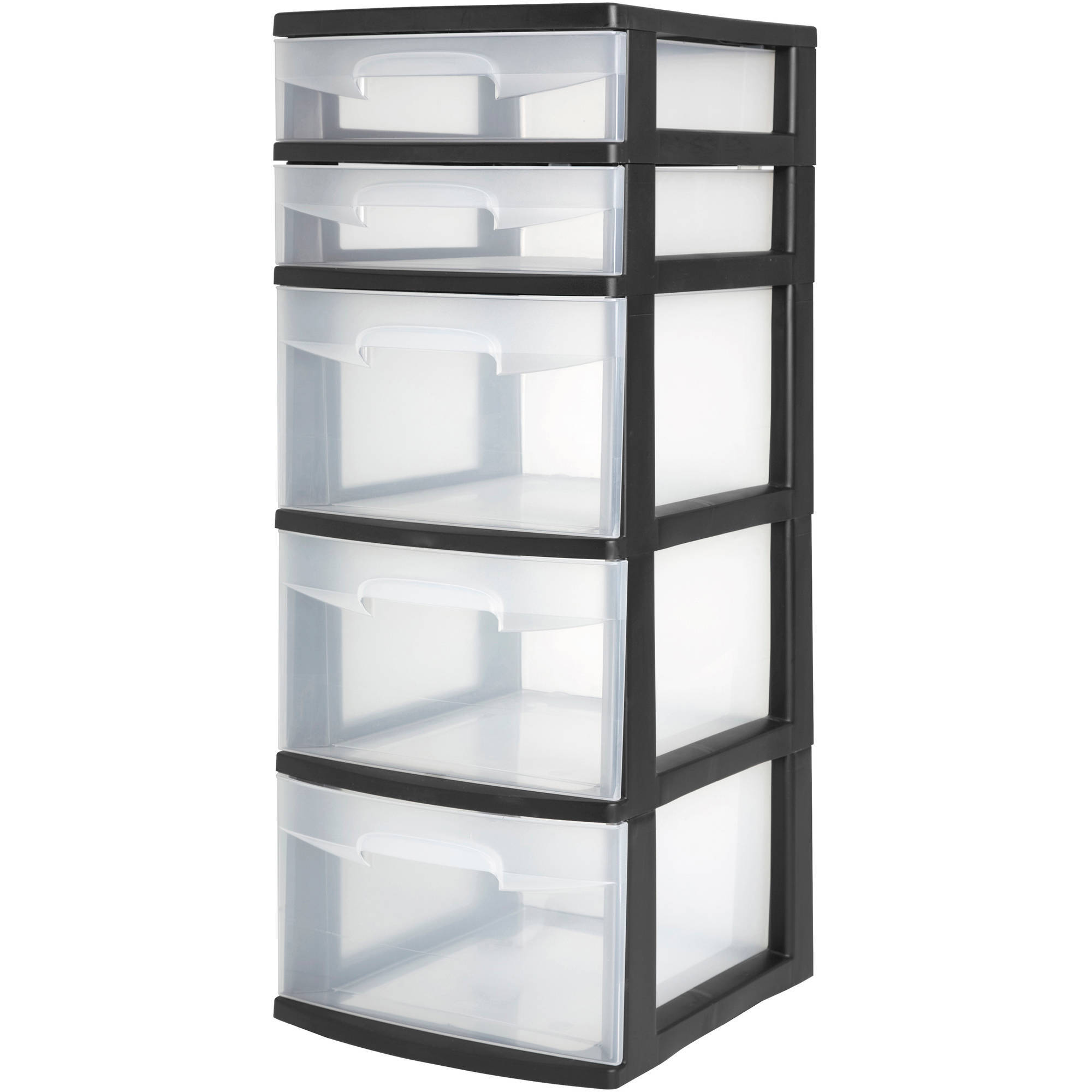 Sterilite 5 Drawer Tower- Black (Available in Case of 2 or Single Unit)
