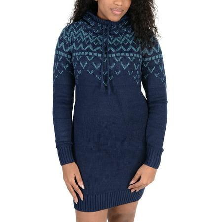 - Adidas Womens Nordic Sweater Dress Navy Blue
