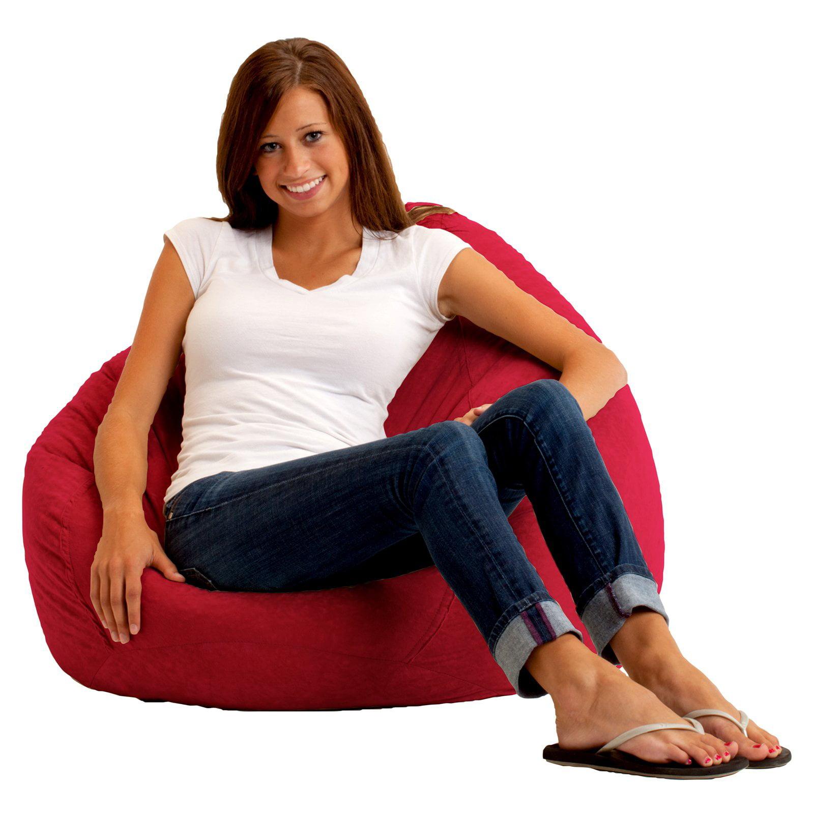 Terrific The Big Bag Comfort Suede Bean Bag Lounger Steel Grey Uwap Interior Chair Design Uwaporg