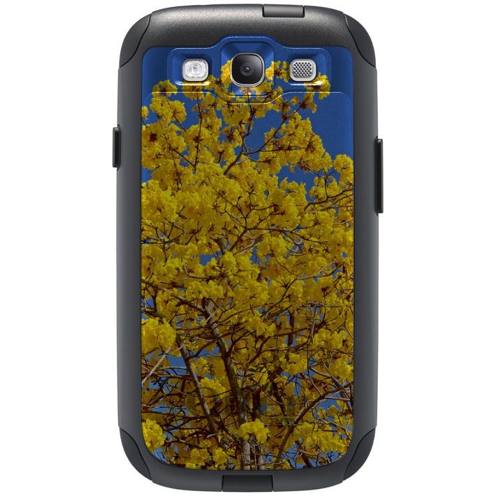CUSTOM Black OtterBox Commuter Series Case for Samsung Galaxy S3 - Yellow Tabebuia Tree Flower