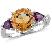 Tangelo 3-1/8 Carat T.g.w Citrine And Rh