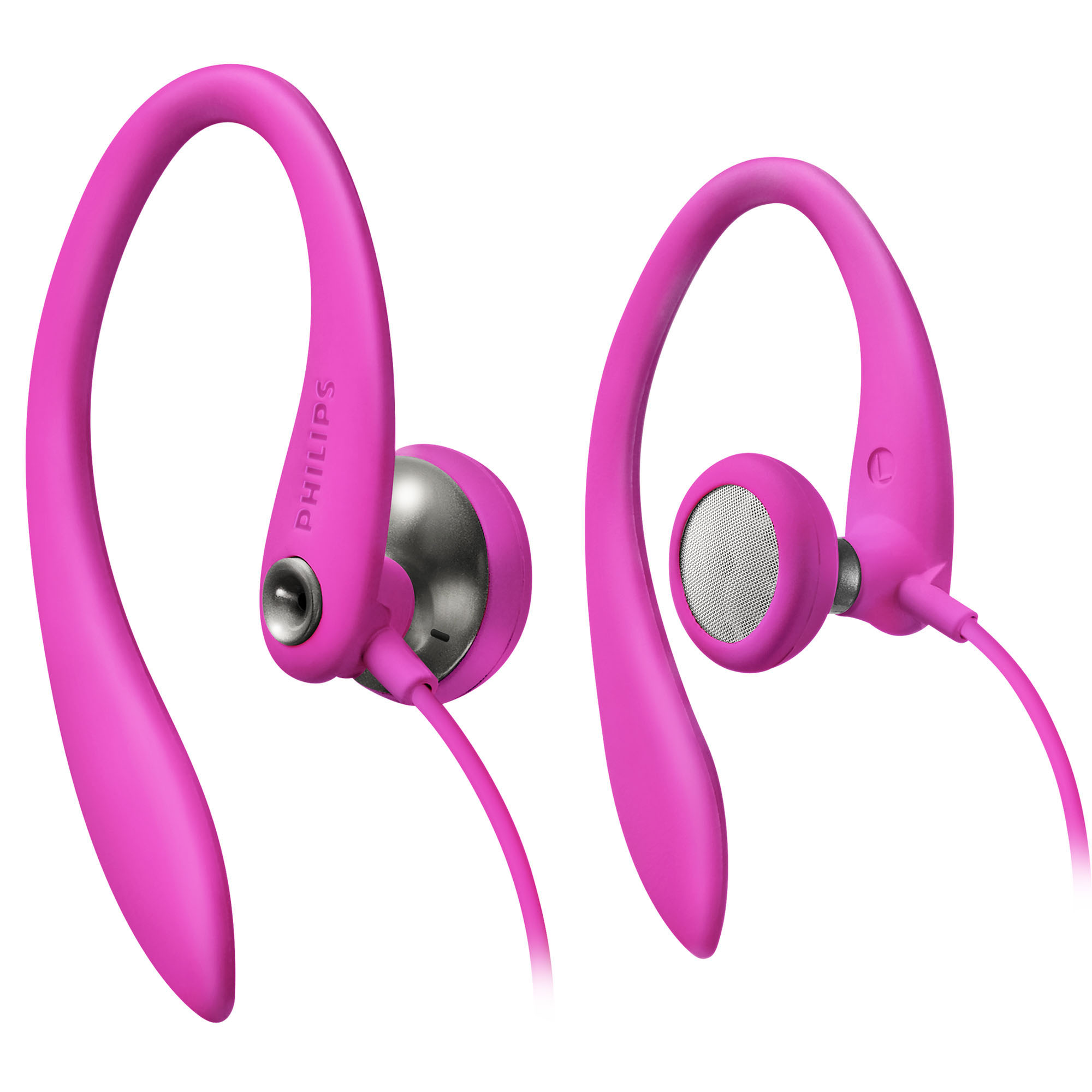 Philips Earhook Headphones, Pink