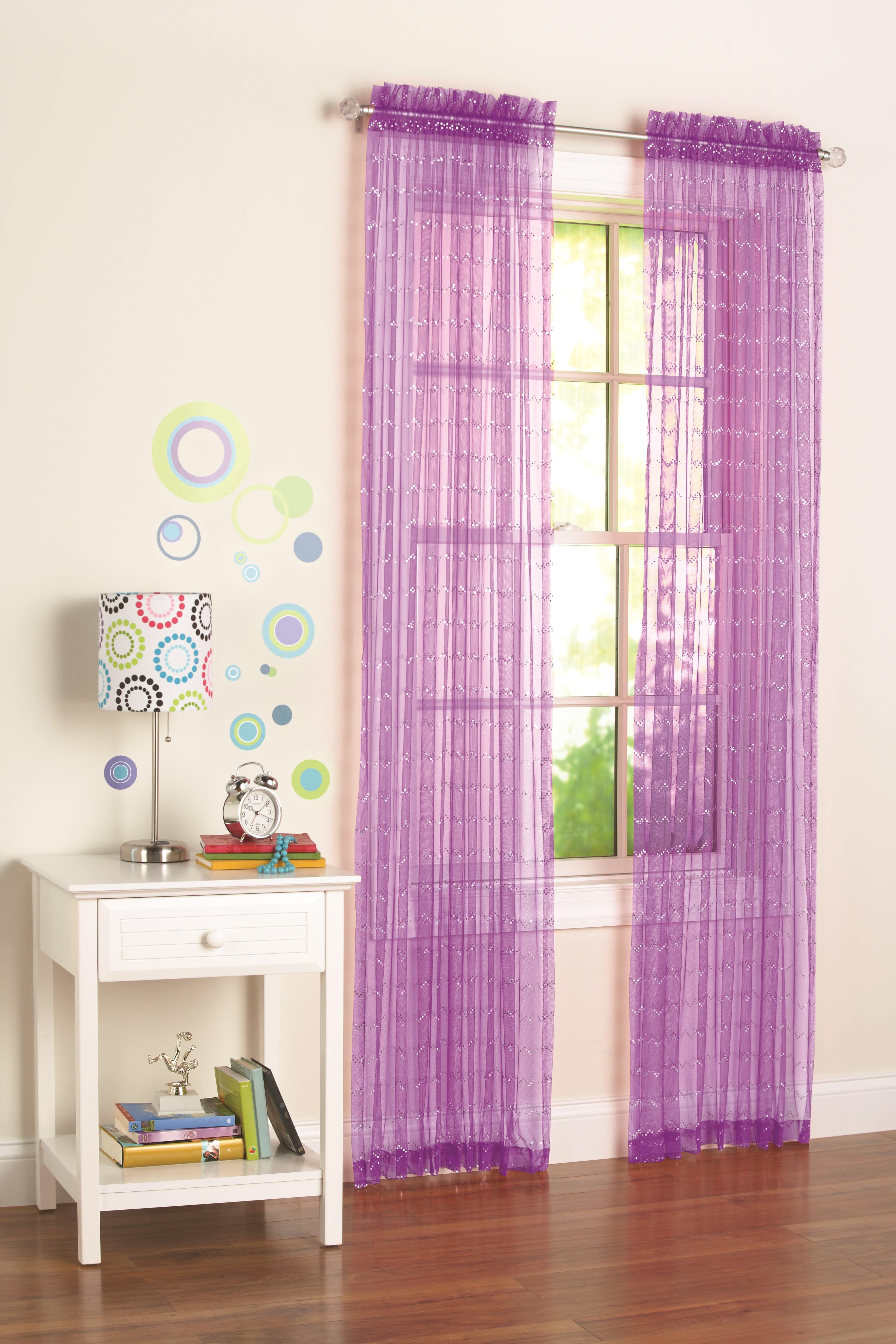 Your Zone Glitz Girls Bedroom Curtains Walmartcom