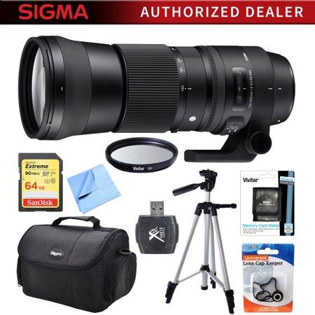 Sigma 150-600mm F5-6.3 DG OS HSM Zoom Lens (Contemporary) for Sigma DSLR Cameras includes Bonus Xit 60