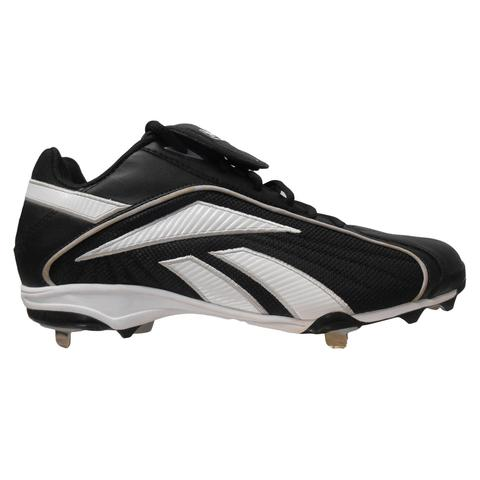 New Reebok Vero FL ML Low Cleats Mens 12.5 Black White Baseball Metal by Reebok