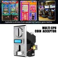 PC Plastic Multi Coin Acceptor Mechanism Vending machine Arcade Game Machine Coin Selector