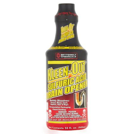Betterbilt Chemicals Kleen Out Sulfuric Acid Drain Opener