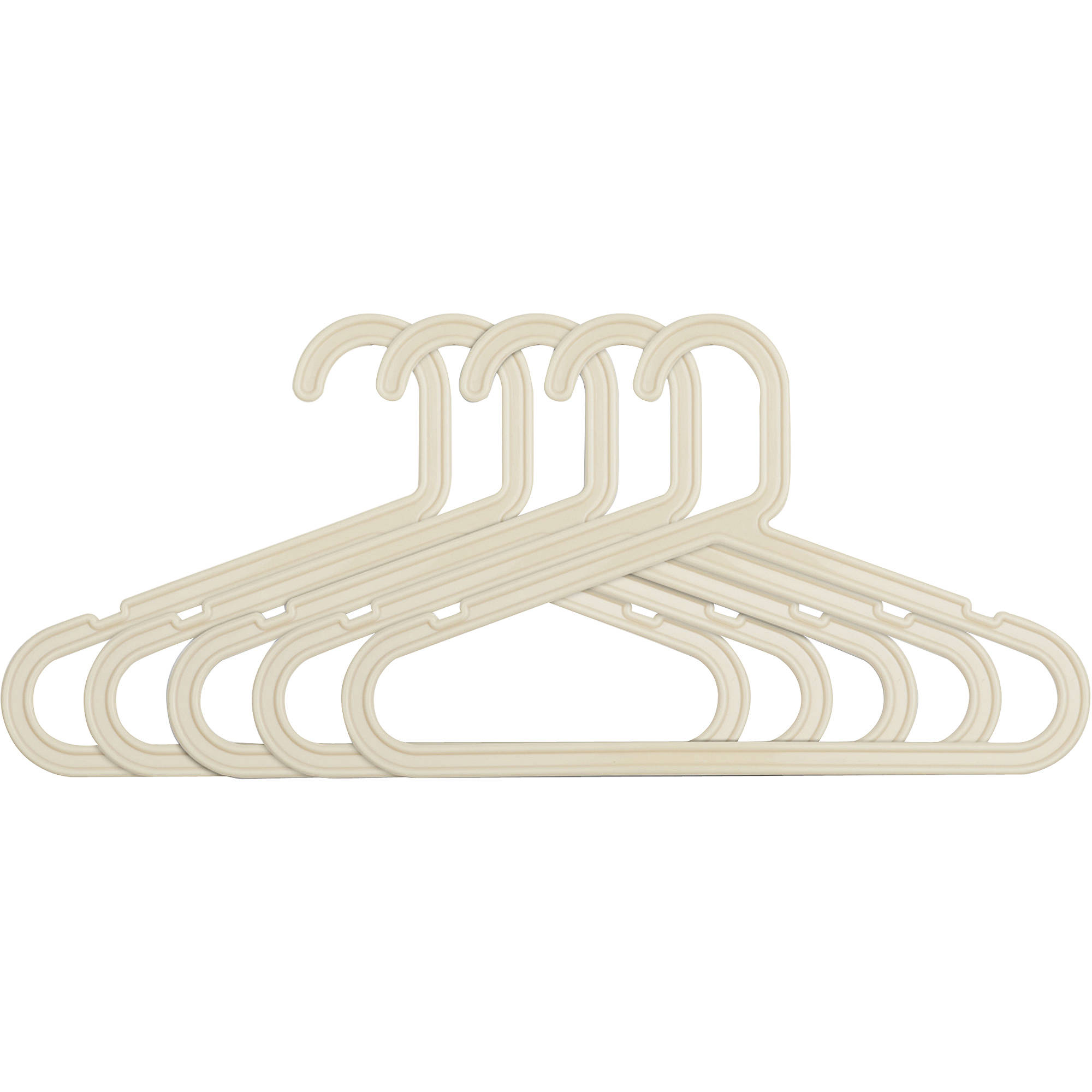 Slim Design Baby Plastic Hangers, Set of 30, Beige