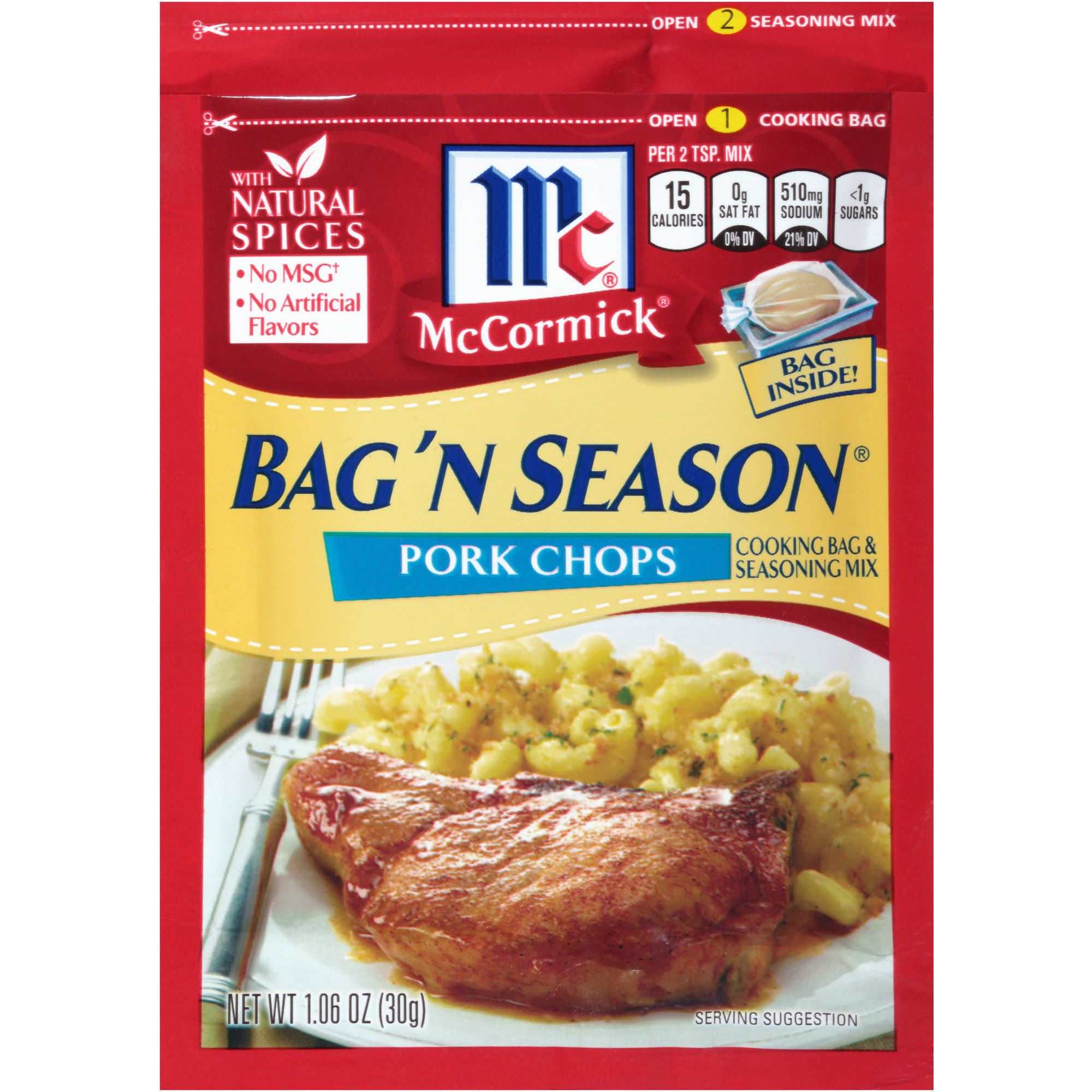 McCormick Bag 'N Season Pork Chops Seasoning Mix & Cooking Bag, 1.06 oz