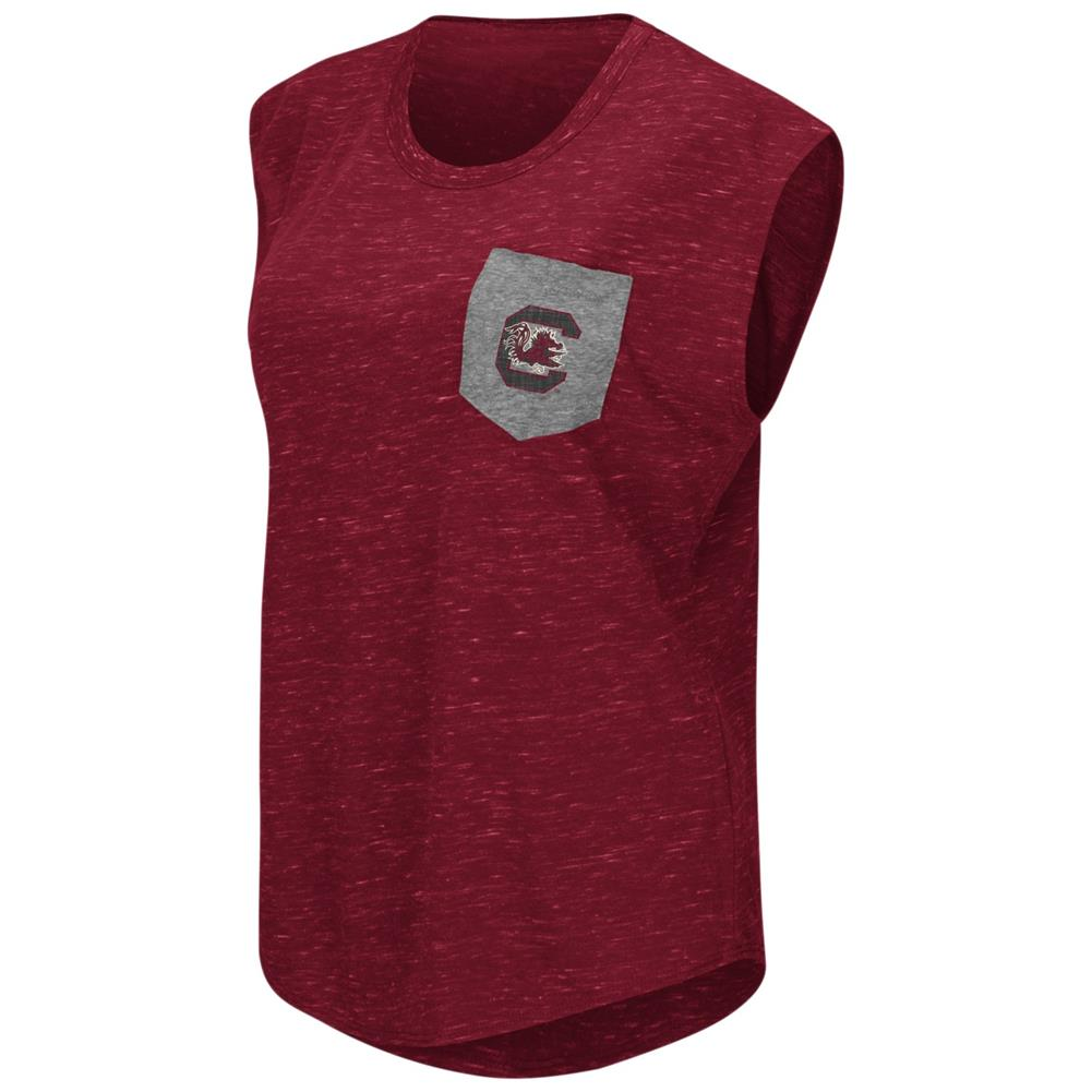 South Carolina Gamecocks Ladies Pocket Tee Heathered Vintage T-Shirt