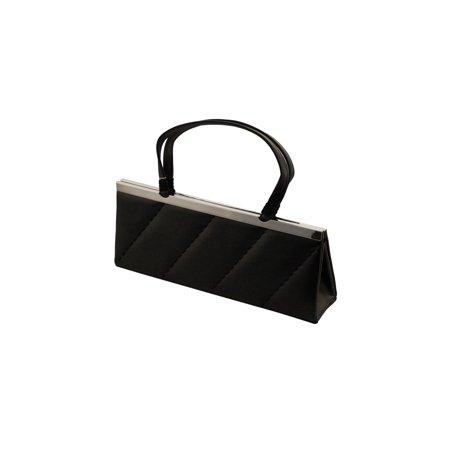 Elegant Evening Women Handbag - Black Soft Satin Fabric Party Shoulder Bag for Girls PS5550 (Jean Fabric Purse)