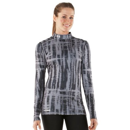 Under Armour Women's Printed ColdGear Fitted Mock Shirt