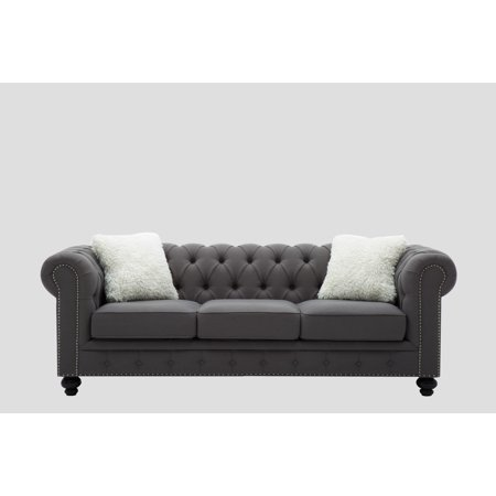Best Quality Furniture Upholstered Sofa Dark Gray or
