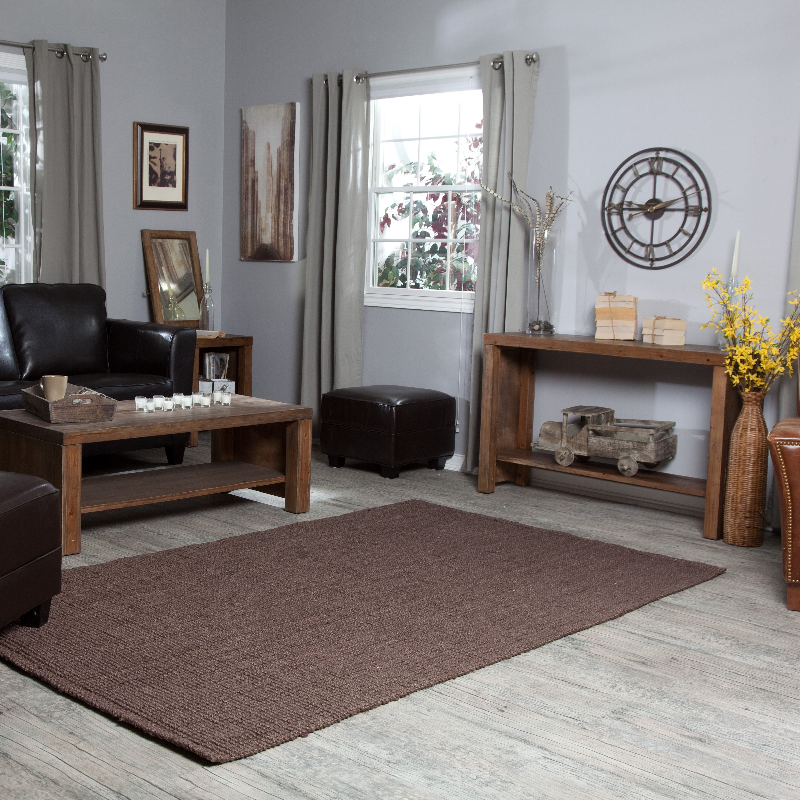 Belham Living Brinfield Rustic Solid Wood Occasional Table Collection