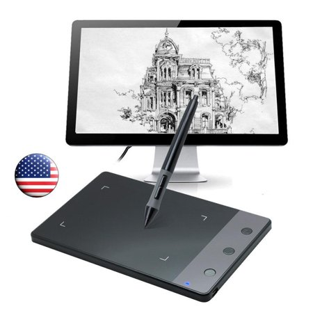 Ktaxon HUION H420 4 X 2.23 inches USB Art Design Graphics Drawing Tablet Electronic Signature Pad Board Device with USB Cordless Painting Digital Pen (Huion H420 Usb Graphics Drawing Tablet Board Kit)