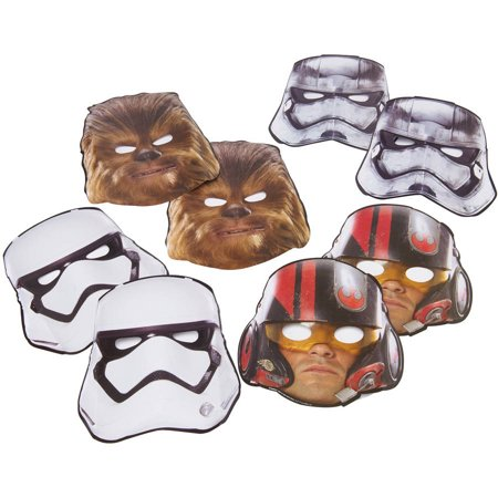 Star Wars Episode VII Party Masks, 8ct](Star Wars Party Supply)