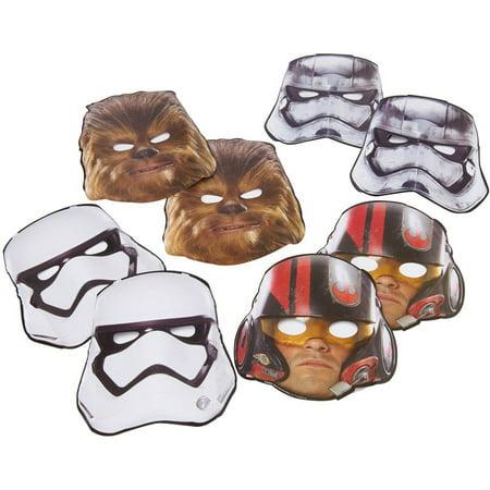 Star Wars Episode VII Party Masks, 8ct - Star Wars Party Masks