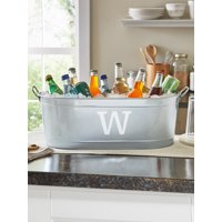 Personalized Galvanized Initial Beverage Tub or Tub with Stand