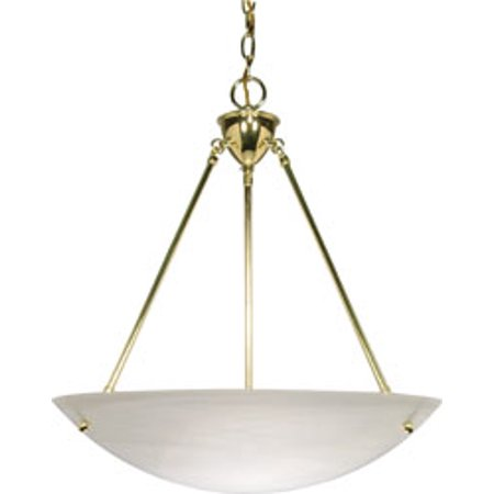 Replacement for 60/372 3 LIGHT 23 INCH PENDANT ALABASTER GLASS BOWL POLISHED BRASS TRANSITIONAL ()