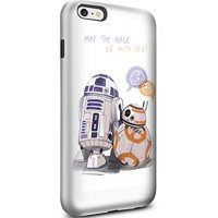 Ganma R2d2 with Bb8 Star Wars Case For iPhone and Case For Samsung Galaxy (Case For iPhone 6 Plus / 6s Plus white)