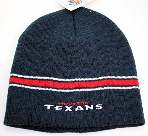 NFL Houston Texans Cuffless Knit Beanie Hat Navy by NFL