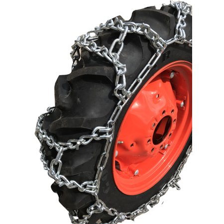Compatible with Mahindra 1538 HST  AG R1 Rear 11.2x24 V-BAR Duo Grip Tire Chains -  TireChain.com