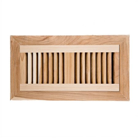 Image wood vents hickory flush mount wood vent cover with for Wood floor vent covers