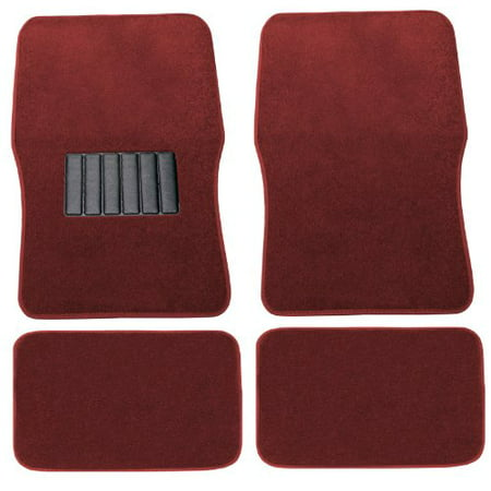 Premium Red Carpet Floor Mats 4pc Front Rear No-Slip Carpet For Hyundai Sonata
