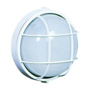 Artcraft Lighting-AC5661WH-One Light Large Round Wall Sconce  White Finish with Semi-Clear White