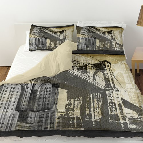 Manual Woodworkers & Weavers Metropolitan Collage Duvet Cover