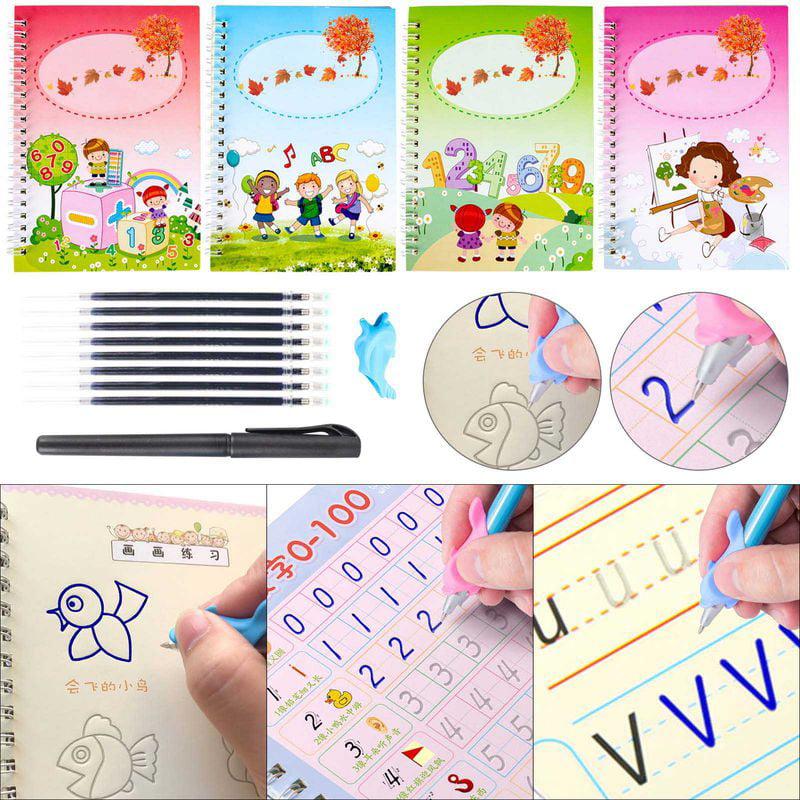 Magic Calligraphy That Can Be Reused Willingood Handwriting Copybook Magic Calligraphy Handwriting Copybook Set for Kid Calligraphic Letter Writing