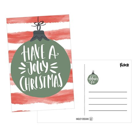 50 red green holiday greeting cards cute fancy blank winter
