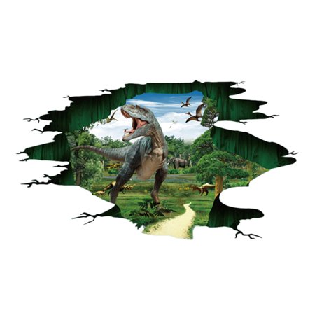 3D Dinosaur Floor Wall Sticker Removable Mural Decals Vinyl Living Room Decor - Dinosaur Wall Decor