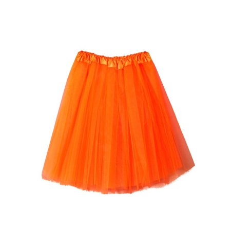 OkrayDirect Womens High Quality Pleated Gauze Short Skirt Adult Tutu Dancing Skirt