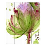 DiaNoche Designs Artichoke Flower by Dawn Derman Painting Print Plaque