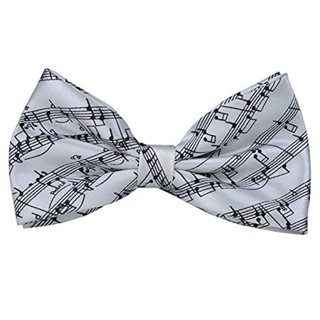 PUNK Pre-tie Music Notes LS Bow tie Self-tie Style 6 Colors Birthday Gift Formal Fun Occasions