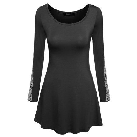 Black Friday Clearance! Women's Long Sleeve O-Neck Patchwork Casual Loose T-shirts Blouse Tops