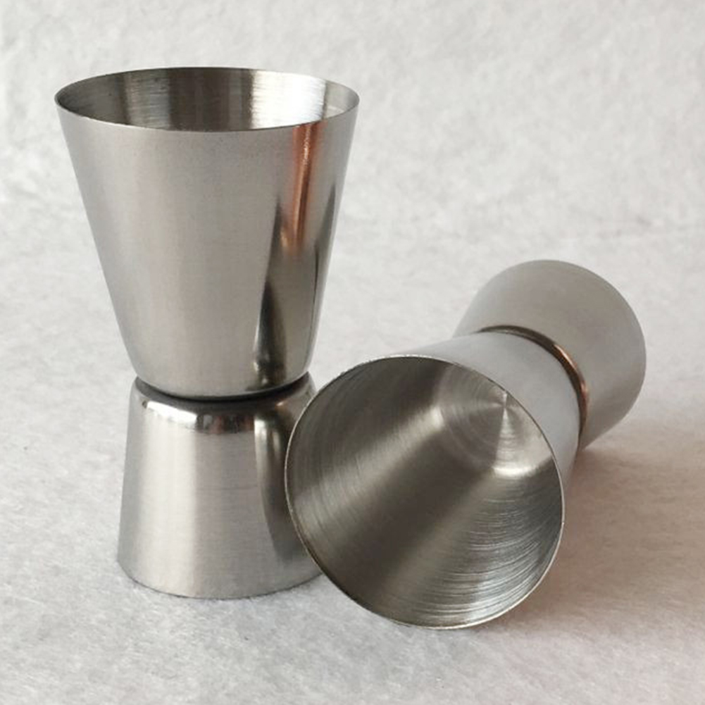 Micelec Stainless Steel Double Jigger Shot Glass Cocktail Bartender Mixer Measuring Cup
