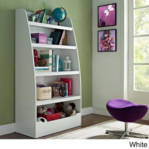 Altra Kids 4-shelf Bookcase Bookcase, White by Overstock