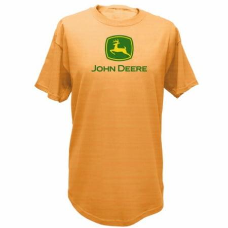 John Deere 13280000LP06 Men's Short Sleeve Tee Shirt, Light Pumpkin Orange, XL ()