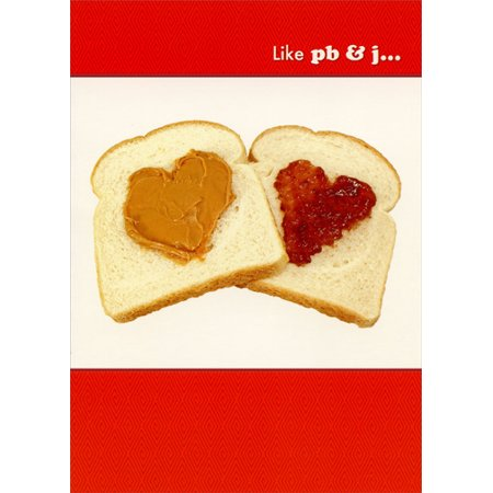 Designer Greetings Peanut Butter and Jelly Hearts Funny Valentine's Day Card](Peanuts Valentine)