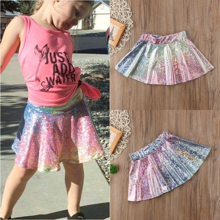 Fashion Kids Baby Girl Rainbow Princess Party Sequin Tulle Tutu Skirt Dresses 1-4 Years
