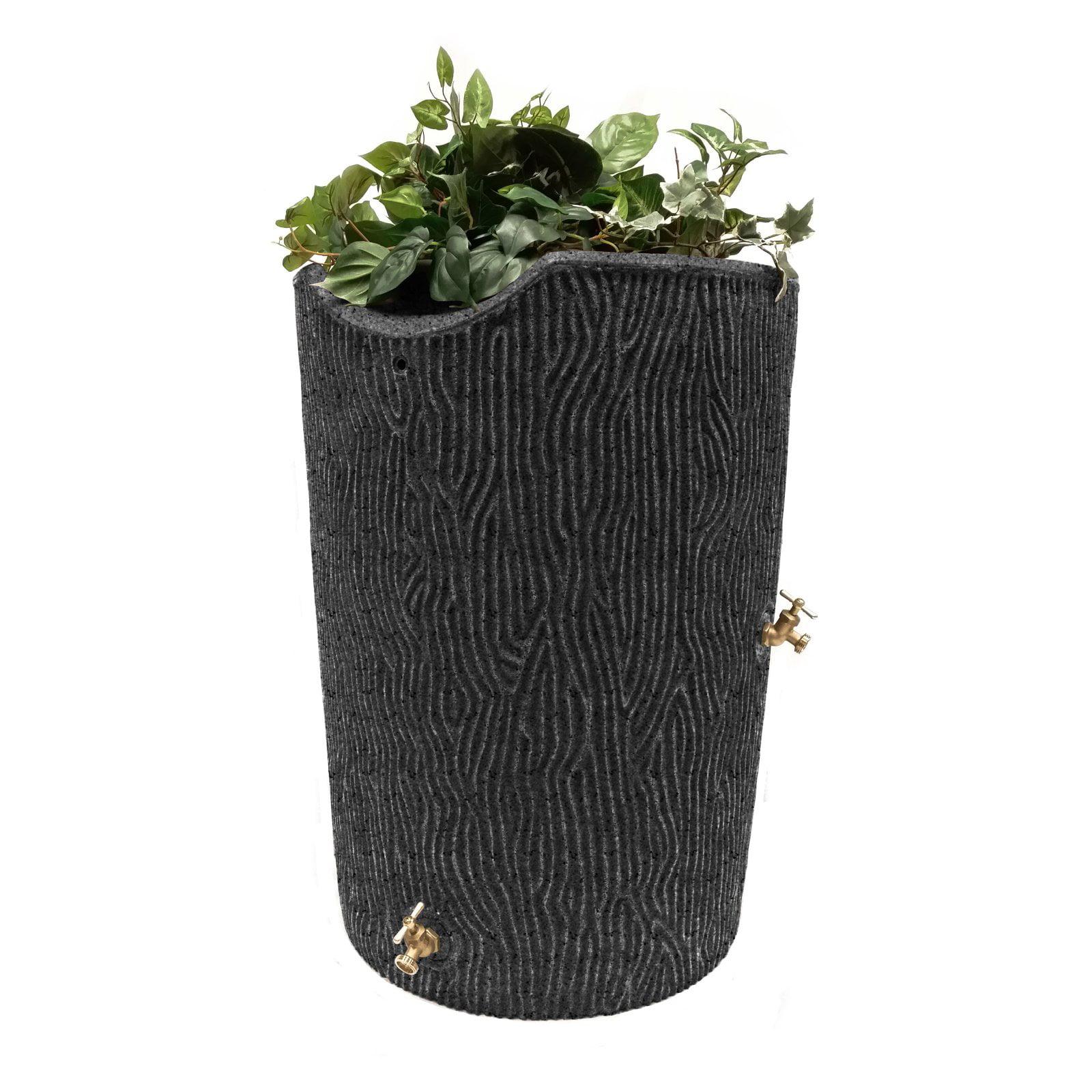 Impressions 50-Gallon Bark Rain Saver, Dark Granite