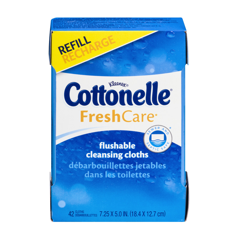 Cottonelle FreshCare Flushable Cleansing Cloths Refill - 42 CT