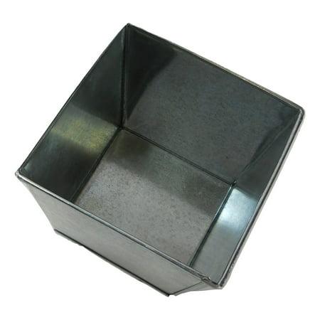 72 piece Case Lot  Galvanized Pot Bucket Square Vintage 4
