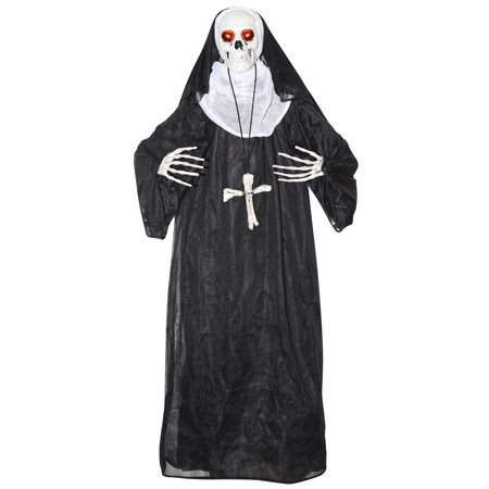 Animated Nun Prop Halloween Decoration - Animated Vampire Coffin Halloween Inflatable Prop