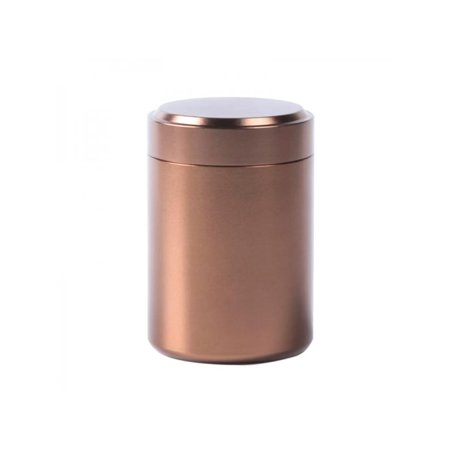 Topumt Airtight Smell Proof Container Aluminum Herb Stash Jar Tea Coffee Storage Cans Box Tea