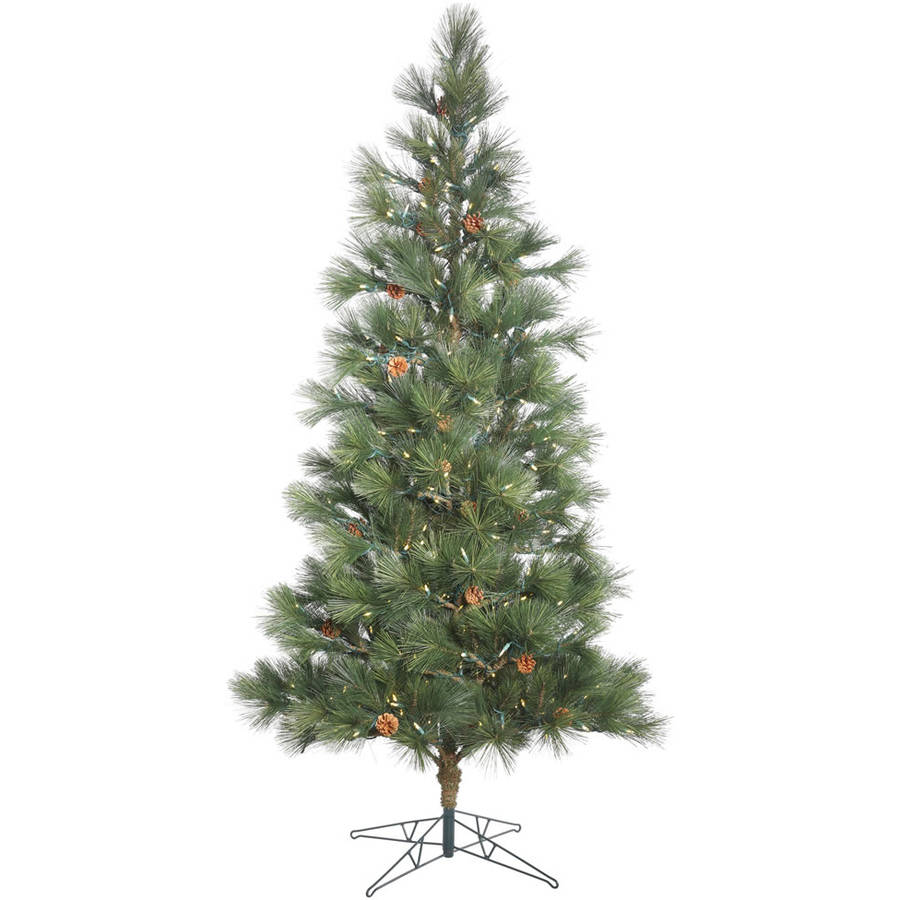 Vickerman 7.5' Redmond Spruce Artificial Christmas Tree with 350 Warm White LED Lights