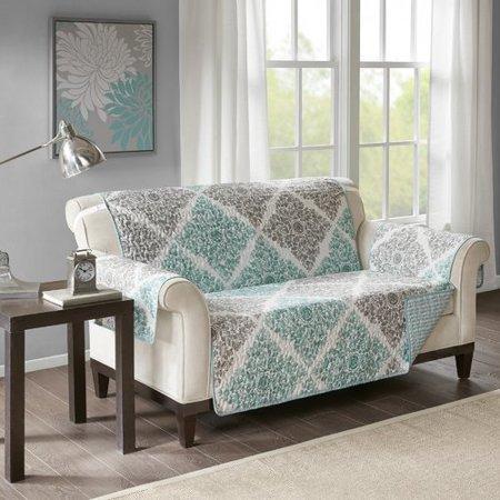 - August Grove Floral Box Cushion Loveseat Slipcover